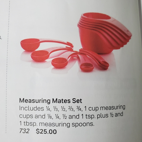 Tupperware red measure set